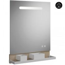 Burgbad Fiumo Spiegel/Leuchtspiegel 600 mit horizontaler LED-Beleuchtung(SFXU060)