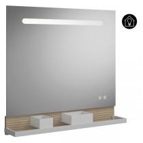 Burgbad Fiumo Spiegel/Leuchtspiegel 800 mit horizontaler LED-Beleuchtung(SFXU080)