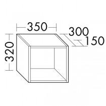 Burgbad Flex Ablagen zum Einhängen in Wandmodulen, Anbauwandmodulen und Raumteiler(OSJW035)