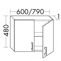 Burgbad Flex Haengeschrank passend zu Anbauwandmodulen und Raumteiler SFPM / SFPN080(OSJT079)PG1