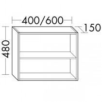 Burgbad Flex Regal passend zu Anbaumodulen SFPM / SFPN080(OSJU060)