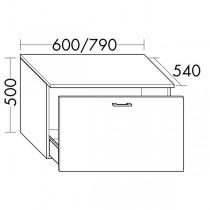 Burgbad Flex Unterschrank passend zu Anbauwandmodulen und Raumteiler SFPM / SFPX / SFPN080(SFPO060)PG1