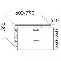Burgbad Flex Unterschrank passend zu Anbauwandmodulen und Raumteiler (SFPM / SFPX / SFPN080(SFPP060)PG1