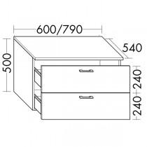 Burgbad Flex Unterschrank passend zu Anbauwandmodulen und Raumteiler SFPM / SFPX / SFPN080(SFPP060)PG2