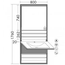 Burgbad Flex Wandmodul inkl. Mineralguss-Waschtisch 800(SFPL080)