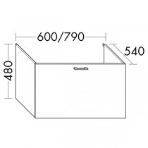Burgbad Flex Waschtischunterschrank passend zu Wandmodulen SFPI / SFPJ / SFPK / SFPL080(WVWR060)PG1
