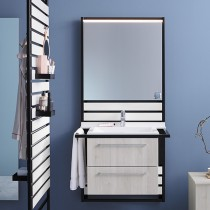 Burgbad Flex Waschtischunterschrank passend zu Wandmodulen SFPI / SFPK / SFPJ / SFPL080(WVWS060)PG1