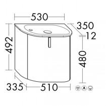 Burgbad Lavo 2.0 Mineralguss-Waschtisch inkl. Waschtischunterschrank Gästebad (SGCG053)