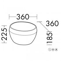 Burgbad Lavo 2.0 Mineralguss-Waschtisch passend zu Waschtischunterschrank inkl. Abdeckplatte(MWFL036)