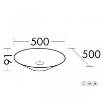 Burgbad Lavo 2.0 Mineralguss-Waschtisch passend zu Waschtischunterschrank inkl. Abdeckplatte(MWGU050)