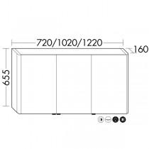 Burgbad Lavo 2.0 Spiegelschrank mit vertikaler LED-Beleuchtun(SPOW072)