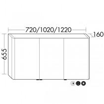 Burgbad Lavo 2.0 Spiegelschrank mit vertikaler LED-Beleuchtung(SPOV102)