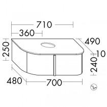 Burgbad Lavo 2.0 Waschtischunterschrank inkl. Konsolenplatte passend zu Aufsatzwaschtisch(SFZU071)