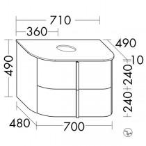 Burgbad Lavo 2.0 Waschtischunterschrank inkl. Konsolenplatte passend zu Aufsatzwaschtisch(SFZV071)