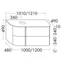 Burgbad Lavo 2.0 Waschtischunterschrank inkl. Konsolenplatte passend zu Aufsatzwaschtisch(SFZY101)