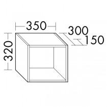 Burgbad Regal passend zu Anbauwandmodulen und Raumteiler (OSJV035)
