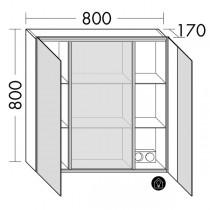 Burgbad rl30 Room Light Spiegelschrank mit indirekter LED-Beleuchtung oben, unten und seitlich(SPLS080)