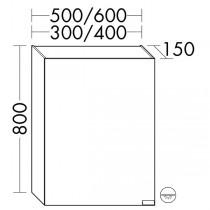 Burgbad rl40 Room Light Spiegelschrank Modular(SPOE030)PG3