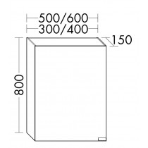 Burgbad rl40 Room Light Spiegelschrank Modular(SPOE040)PG1