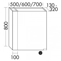 Burgbad rl40 Room Light Spiegelschrank Modular(SPOS050)(Typ-Nr. alt: SS251)PG3