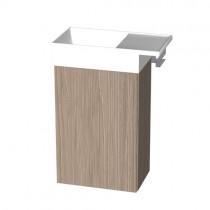 Burgbad Yumo Gästebad Mineralguss-Waschtisch inkl. Waschtischunterschrank 510 PG1 (SFKP051)
