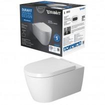 Duravit Wand WC-Set ME by STARCK, Rimless,Durafix TS,weiß,inkl.WC-Sitz m.Absenkautomatik