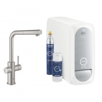 GROHE Blue Home Starter Kit 31539 auszb. Mousseur Bluetooth/WIFI L-Asl.supersteel