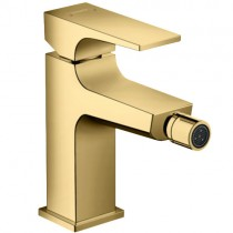 Hansgrohe Metropol Bidetmischer Polished Gold Optik mit Push-Open Ablaufgarnitur