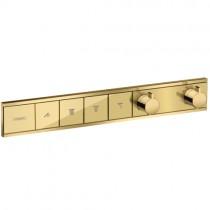 Hansgrohe Thermostat Unterputz RainSelect Fertigset 4 Verbraucher Polished Gold Optik
