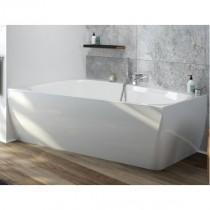 Hoesch Badewanne iSensi Trapez 1500x1000 Monoblock links m.Überlaufbefüllung Chrom, ang. Sch.