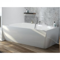 Hoesch Badewanne iSensi Trapez 1500x1000 Monoblock links m.Überlaufbefüllung Weiß, ang. Sch.