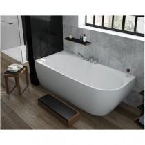 Hoesch Badewanne iSensi Vorwand 1800x800 links inkl. ÜL-Befüllung Monoblock, ang. Schürze weiß