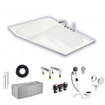 Hoesch Spectra 1800x1200x480 mm Trapez-Badewanne Einbaubadewanne Links Weiß 3666.010