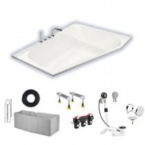 Hoesch Spectra 1800x1200x480 mm Trapez-Badewanne Einbaubadewanne Rechts Weiß 3667.010