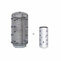 Austria Email Hygienespeicher KWS 1000 R2 mit Wellrohr, 2 Wärmetauscher und ECO SKIN Isolierung