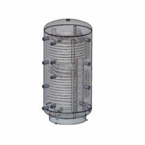 Austria Email Hygienespeicher KWS 1500 R2 mit Wellrohr, 2 Wärmetauscher ohne Isolierung