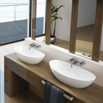 Hoesch Waschbecken Namur 700x400 Material Solique, weiß