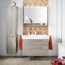 Burgbad Eqio Keramik-Waschtisch+Waschtischunterschrank inkl. LED-Waschtischunterschrankbeleuchtung