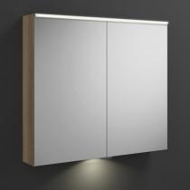 Burgbad Eqio Spiegelschrank+horizontaler LED-Beleuchtung mit LED-Waschtischbeleuchtung
