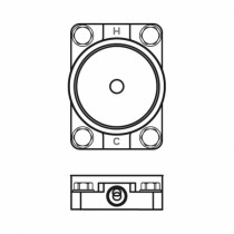Ideal Standard UP-Bausatz 1 für freist. Wannenarm., MELANGE, Chrom