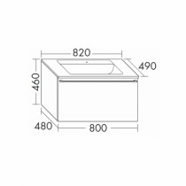 Burgbad Bel Glas-Waschtisch + Unterschrank 820 PG3