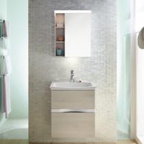 Burgbad Orell Spiegelschrank mit horiz. Beleuchtung 600 PG1 und Waschplatzbeleuchtung