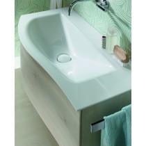 Burgbad Sinea 2.0 Mineralguss-Waschtisch inkl. Waschtischunterschrank mit LED - Griffleistenbeleuchtung 910 (SFHL091) PG1