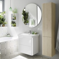 Burgbad Iveo Keramik-Waschtisch+Waschtischunterschrank & Beleuchtung (SFEY080)
