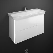 Burgbad Iveo Keramik-Waschtisch+Waschtischunterschrank & Beleuchtung (SFFR120)