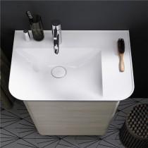 Burgbad Iveo Mineralguss-Waschtisch inkl. Waschtischunterschrank (SFEO065)