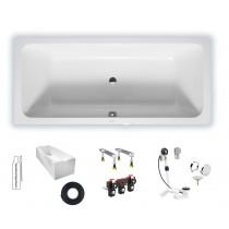 Duravit D-Code 1800x800mm, 700101000000000,  Badewanne Einbauversion, zentraler Ablauf, weiß