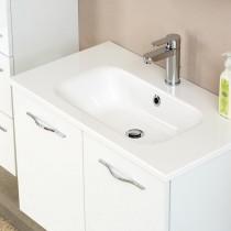 Pelipal Solitaire 6110 Badmöbel Waschtisch 610 Mineralmarmor weiß