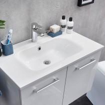Pelipal Solitaire 6110 Badmöbel Waschtisch 810 Mineralmarmor weiß