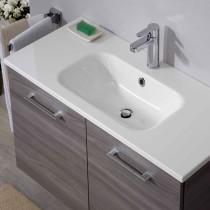 Pelipal Solitaire 6110 Badmöbel Waschtisch 1010 Mineralmarmor weiß